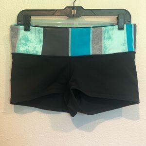 Lululemon Black Color block Shorts Size 10